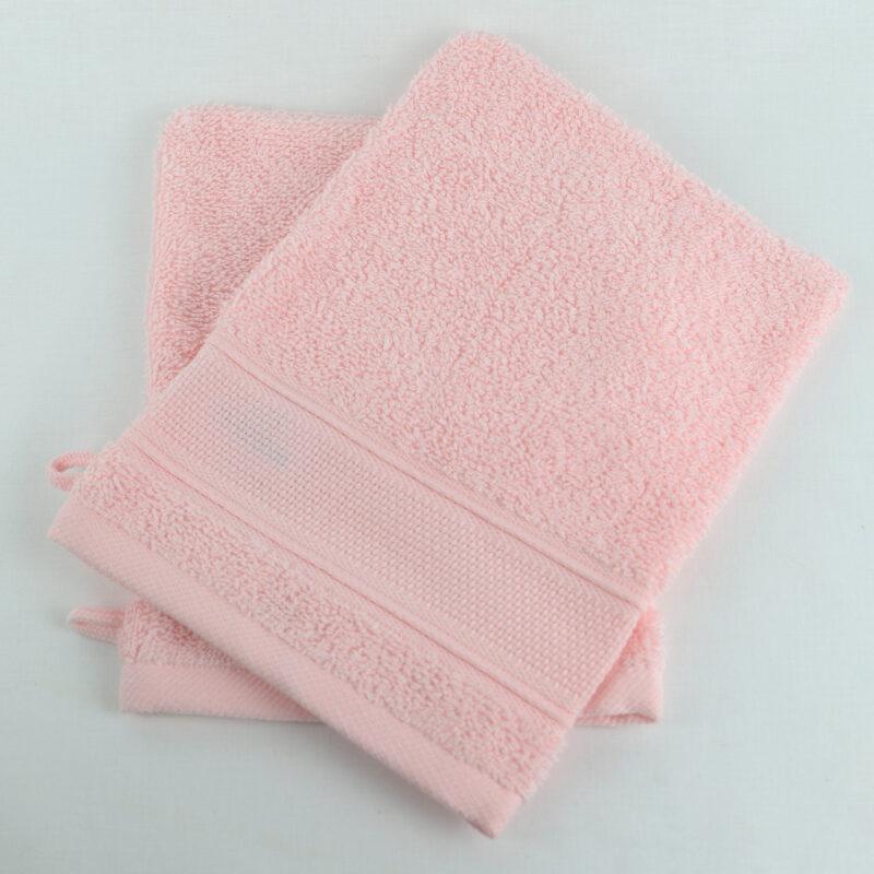 gant de toilette rose a broder toile aida Linandelle