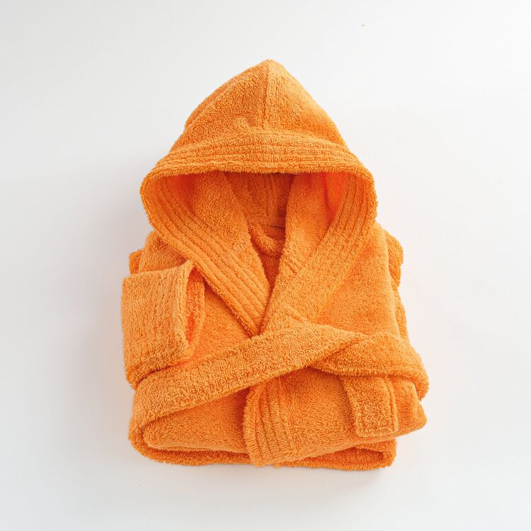 peignoir enfant orange coton