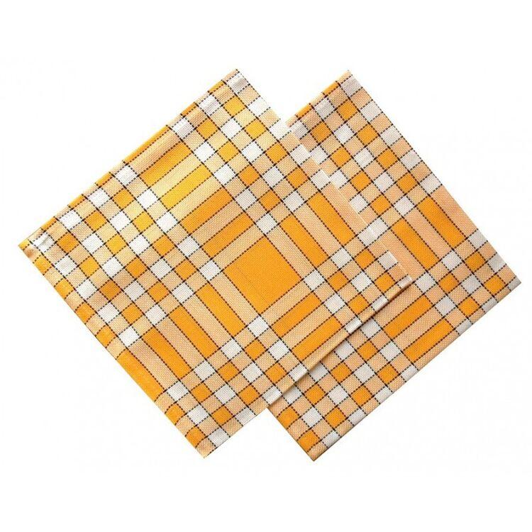 serviette de table carreaux jaunes vichy normands linandelle
