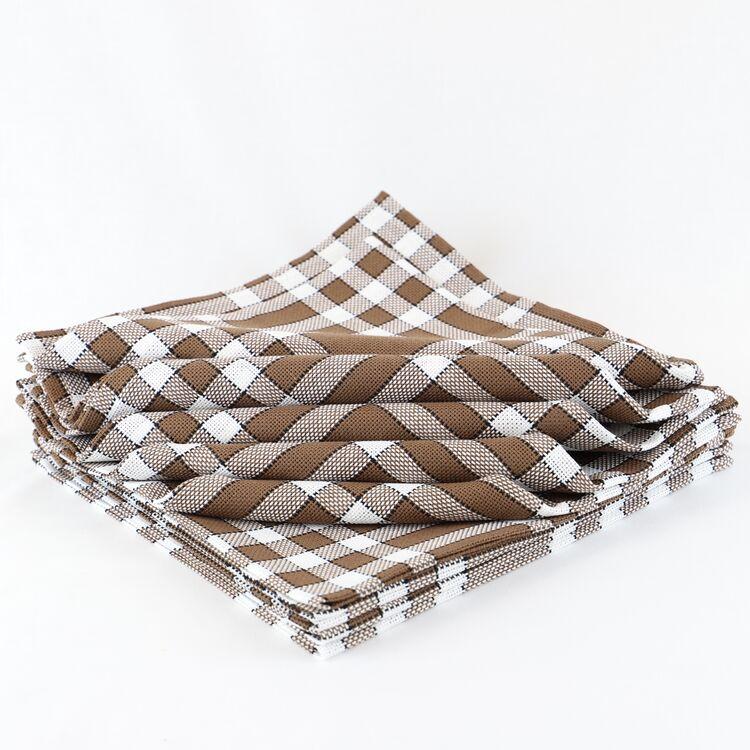 serviette de table carreaux vichy normands linandelle