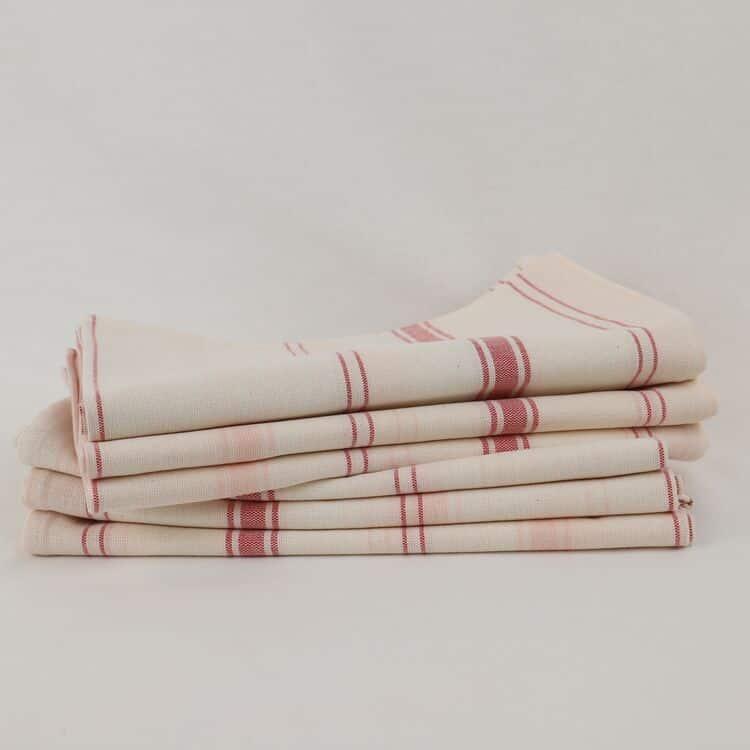 lot de torchons lin coton blanc