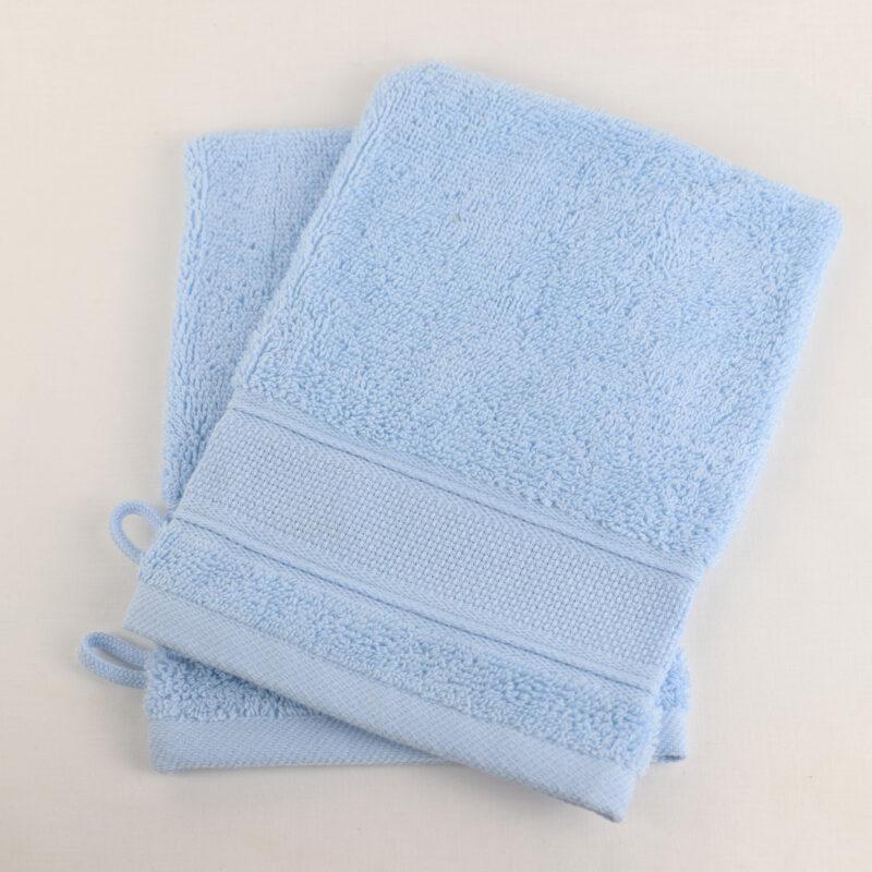 Lot de 2 gants bleu à broder toile aida Linandelle