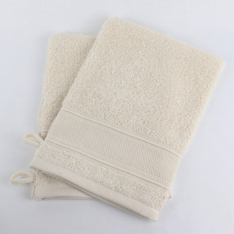 gant de toilette ivoire a personnaliser aida Linandelle